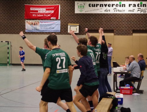 B-Jugend gewinnt Spitzenspiel mit 36:35 (20:16) gegen Angermund