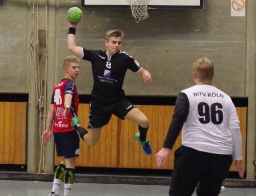 Die männliche A1 siegt 21:25 bei DJK Unitas Haan e.V. im Regionalliga Nordrhein Duell